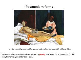 Postmodern forms