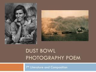Dust Bowl Photography Poem