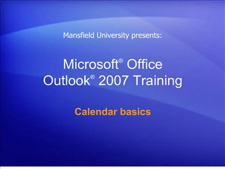 microsoft  office  outlook  2007 training