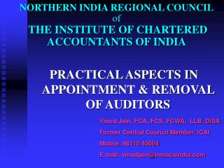NORTHERN INDIA REGIONAL COUNCIL of THE INSTITUTE OF CHARTERED ACCOUNTANTS OF INDIA