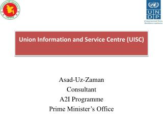 Asad-Uz-Zaman Consultant A2I Programme Prime Minister's Office