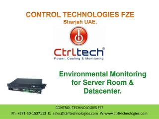 Environmental monitoring for server room and datacentre