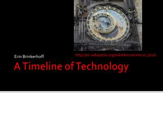 A Timeline of Technology