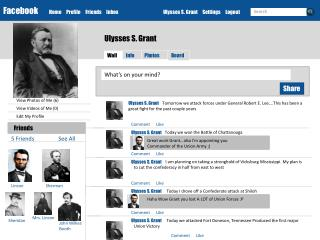 Facebook Home     Profile     Friends     Inbox		Ulysses S. Grant     Settings     Logout
