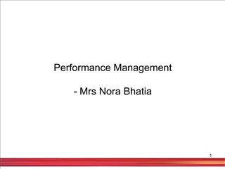 performance management  - mrs nora bhatia