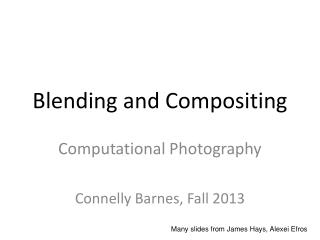Blending and Compositing