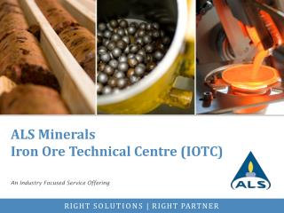 ALS Minerals Iron Ore Technical Centre (IOTC)