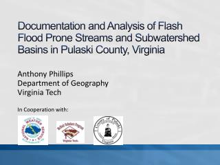 Documentation and Analysis of Flash Flood Prone Streams and Subwatershed Basins in Pulaski County, Virginia