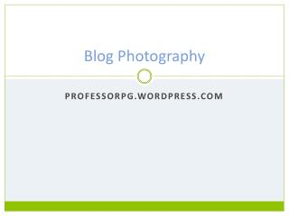 Blog Photography
