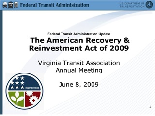 federal transit administration update  the american recovery  reinvestment act of 2009   virginia transit association an