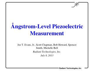 Ångstrom-Level Piezoelectric Measurement