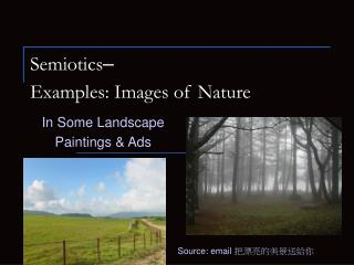 Semiotics – Examples: Images of Nature