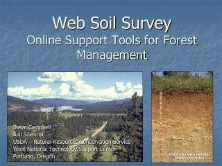 Web Soil Survey Online Support Tools for Forest Management