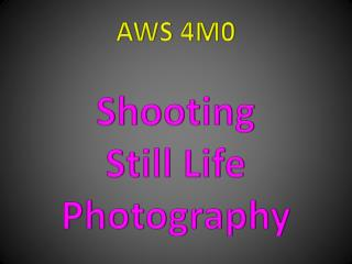 AWS 4M0 Shooting Still Life Photography