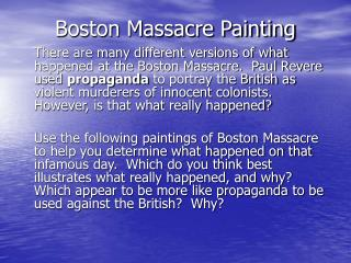 Boston Massacre Painting