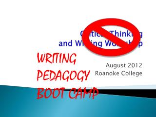 Critical Thinking  and Writing Workshop
