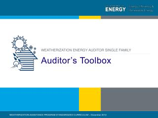 Auditor's Toolbox