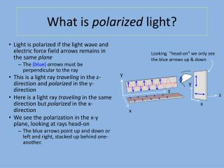 What is  polarized  light?