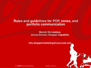 Rules and guidelines for POP, zones, and portfolio communication