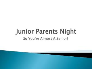 Junior Parents Night