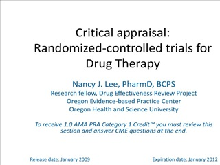 critical appraisal: randomized-controlled trials for drug therapy