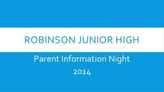 Robinson Junior High