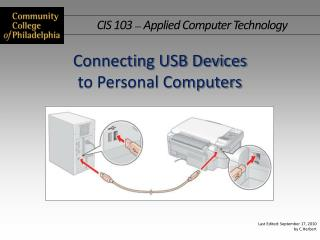 Connecting USB Devices  to  Personal Computers