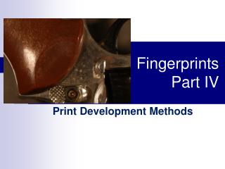 Fingerprints Part IV