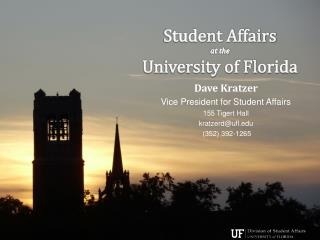 Student Affairs  at the  University of Florida