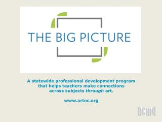 A statewide professional development program that helps teachers make connections  across subjects  through  art.  www.a