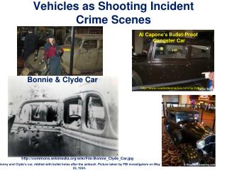 Vehicles  as Shooting Incident Crime Scenes