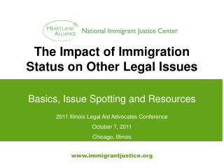 The Impact of Immigration Status on Other Legal Issues
