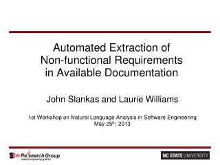 Automated Extraction of Non-functional Requirements in Available Documentation