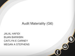 Audit Materiality (G6)