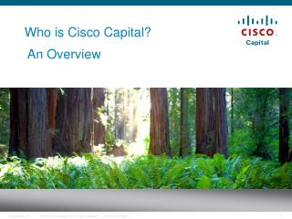 Who is Cisco Capital?  An Overview