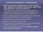 critical evaluation of research