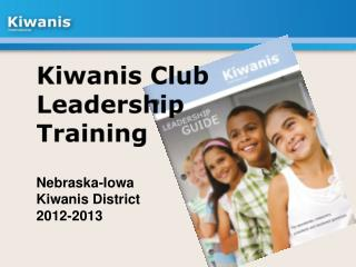 Kiwanis Club Leadership Training