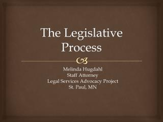 The Legislative Process