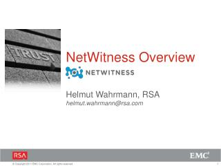 NetWitness Overview