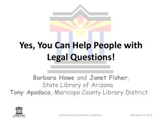 Yes, You Can Help People with Legal Questions!