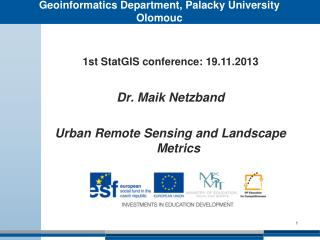 Geoinformatics Department, Palacky University Olomouc