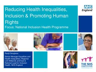 Reducing Health Inequalities, Inclusion & Promoting Human Rights
