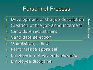 Personnel Process