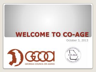 WELCOME TO CO-AGE