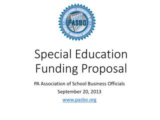 Special Education Funding Proposal
