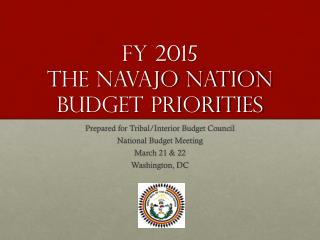 FY 2015 the Navajo nation budget priorities