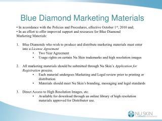 Blue Diamond Marketing Materials