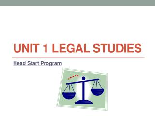 Unit 1 Legal Studies