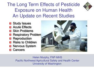 the long term effects of pesticide  exposure on human health  an update on recent studies