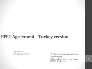 EFET  Agreement – Turkey version